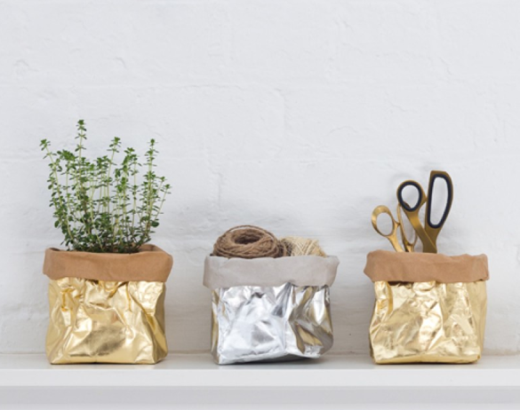 Uashmama metallic paper bag small